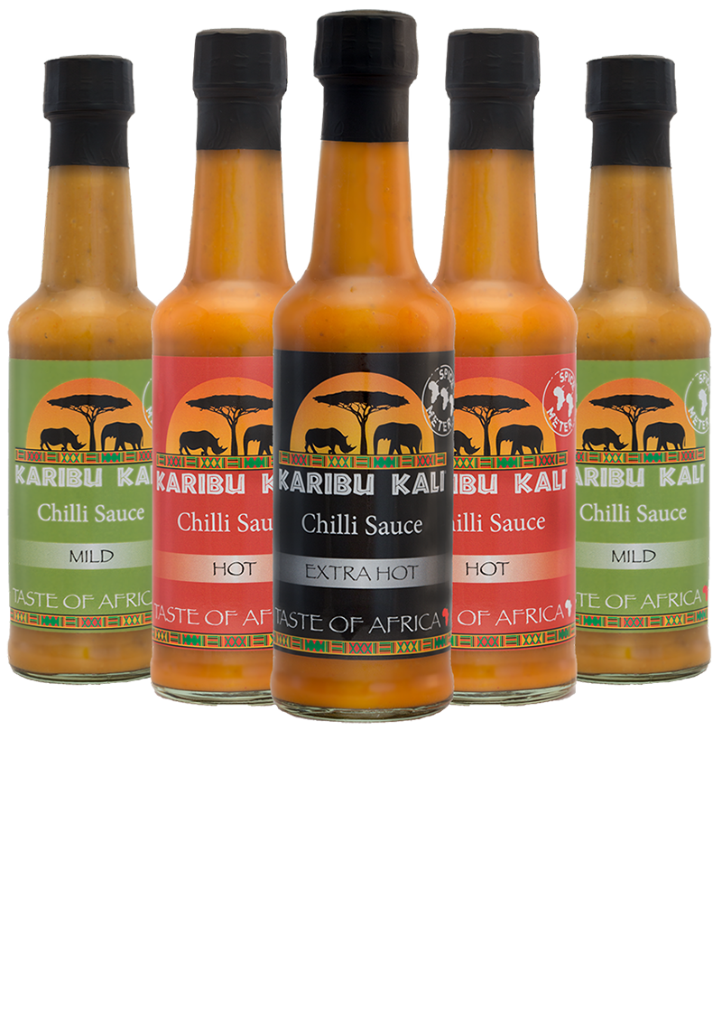 Karibu Kali Red Hot Pepper Sauce With African Spices